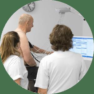 Exames e integração de monitores de sinais vitais